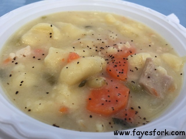 CHICKEN DUMPLING SOUP $3.50