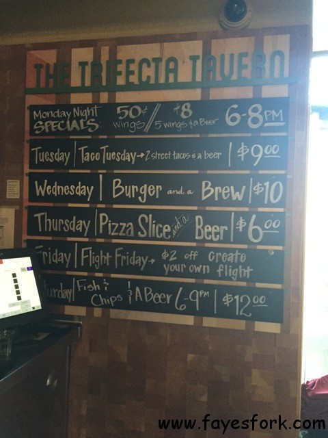 TRIFECTA TAVERN DAILY SPECIALS