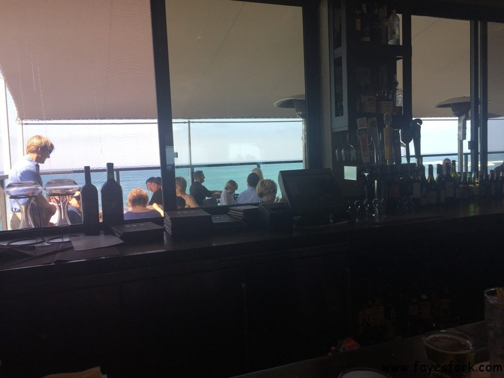 Second floor bar with views