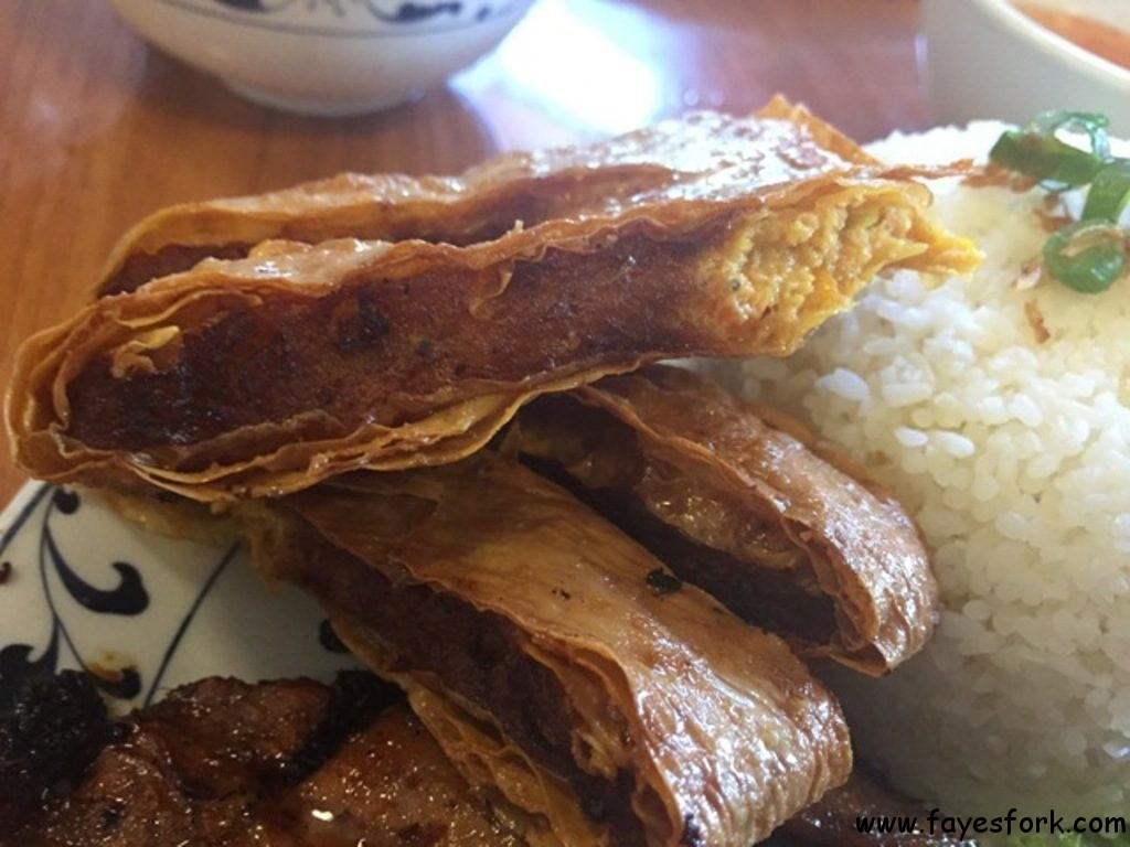 The shrimp paste is wrapped in tofu skin and then deep fried. It's ...
