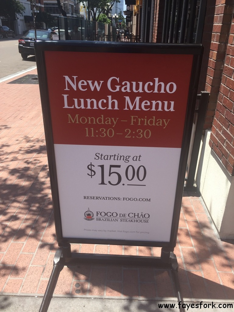 Fogo De Chao New Gaucho Lunch AYCE Market Market Table - Market table reservations